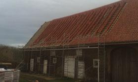 Rénovation toiture d'une ferme